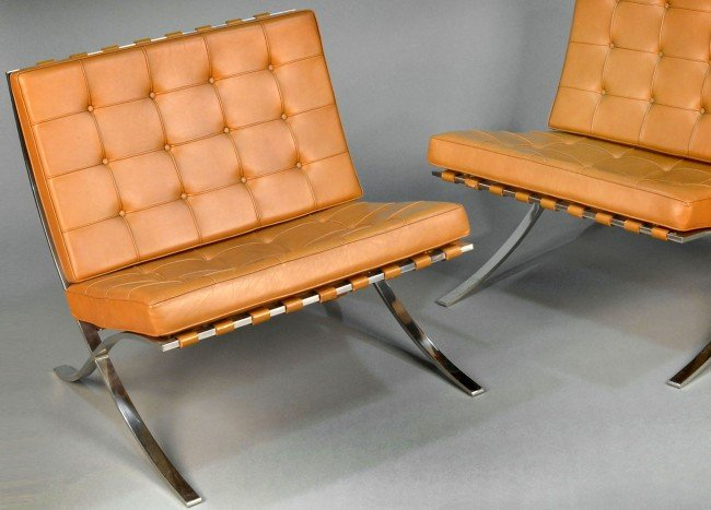 322: Mies van der Rohe Pair of Barcelona Chairs