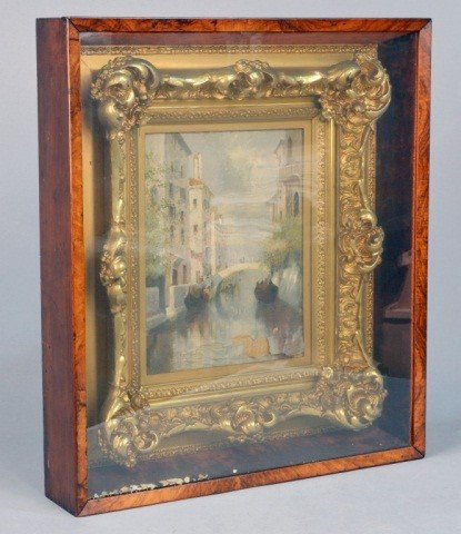 7: Italian School (19th c)  Venetian Canal Scene