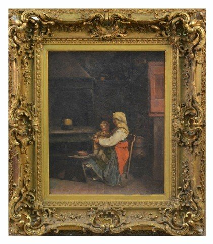 16: Albert Neuhuys (Dutch 1844-1914) Child and Teacher