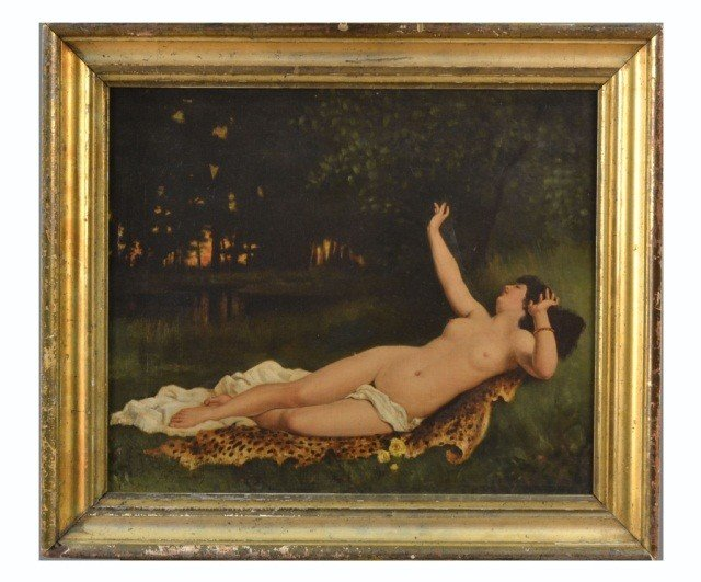 17: After B. Constant (Fr., 1845-1902) Reclining Female