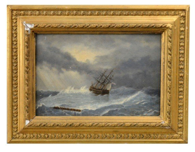 21: Russian Seascape with Sailing Ship