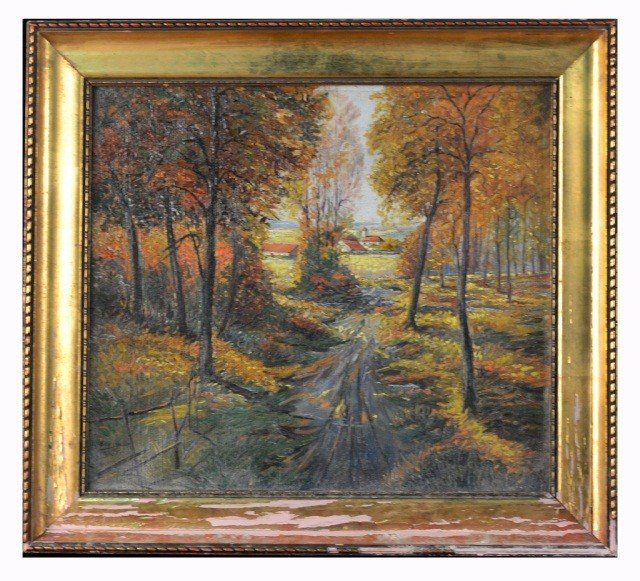 24: Willy Köchler (Ger, 1887)  Landscape with Farm