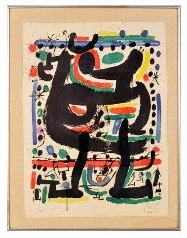 160: Joan Miró (Sp., 1893-1983)   Color Lithograph