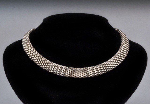 281: Tiffany & Co. Sterling Silver Mesh Necklace