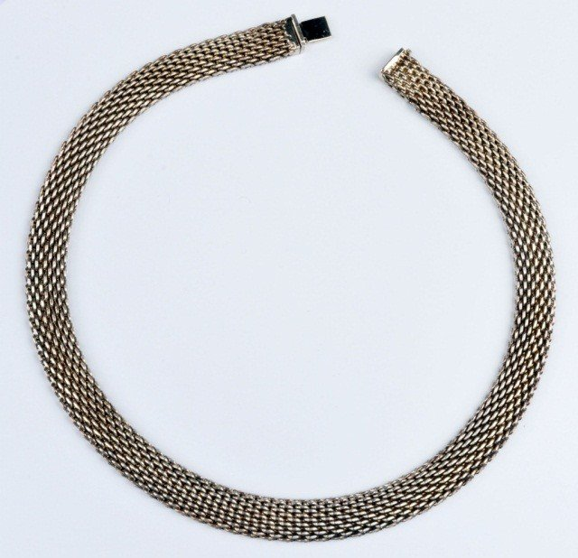 281: Tiffany & Co. Sterling Silver Mesh Necklace - 2