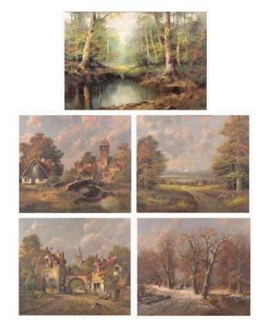 17: Five Landscape Paintings