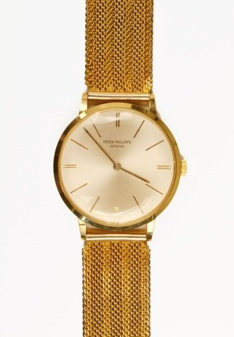 208: Patek Philippe 18k Gold Wristwatch