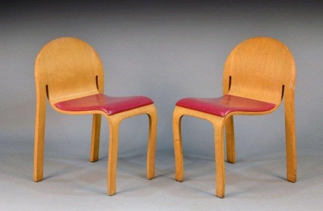 249: Peter Danko (Am. b. 1949)  Pair of Bodyform Chairs