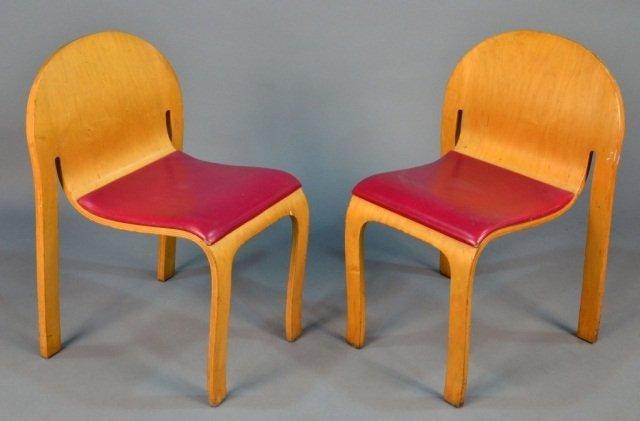 249: Peter Danko (Am. b. 1949)  Pair of Bodyform Chairs - 2