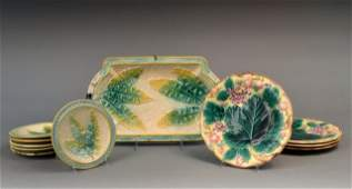 459: Miscellaneous Group of Majolica Table Articles