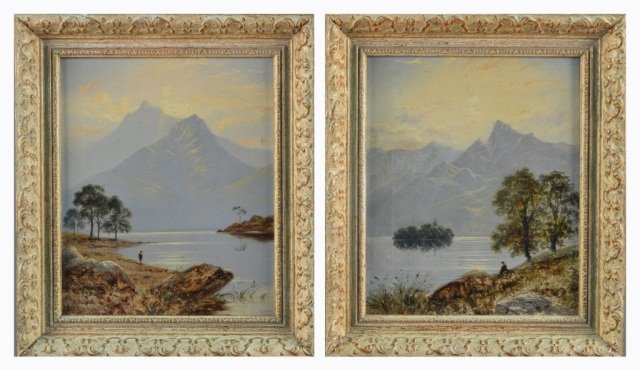 10: Thomas Spinks (Brit.)  Pair of Landscapes