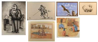 70 Assorted Group of Six Art Works