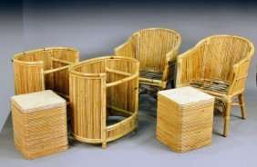 Miscellaneous Group Of Wicker Furniture