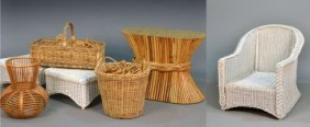 Miscellaneous Group Of Rattan Articles