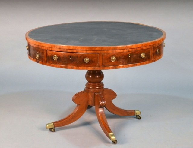 333: George III Style Mahogany Drum Table