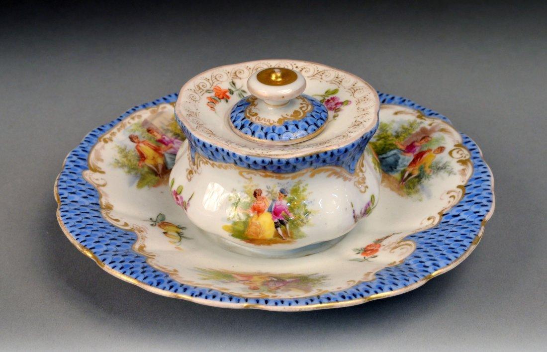 379: Sax Porcelain Inkwell