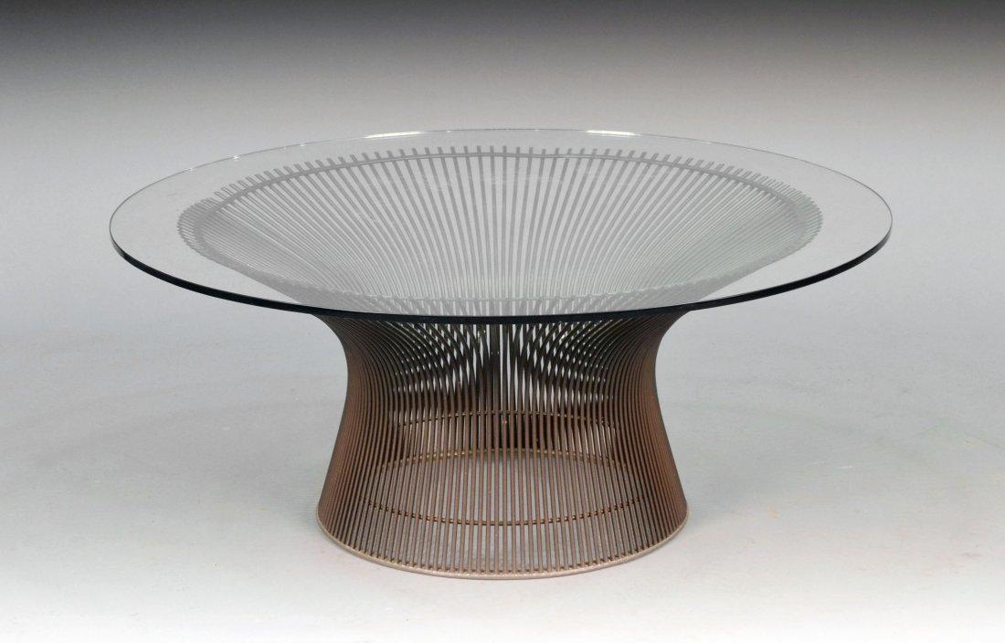 393: Warren Platner Glass Top Low Table