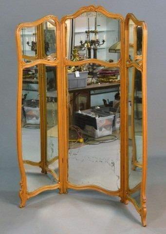 395: Louis XV Style Mirrored Screen