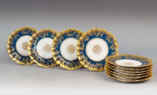 401: Set of Ten Sevres Porcelain Plates