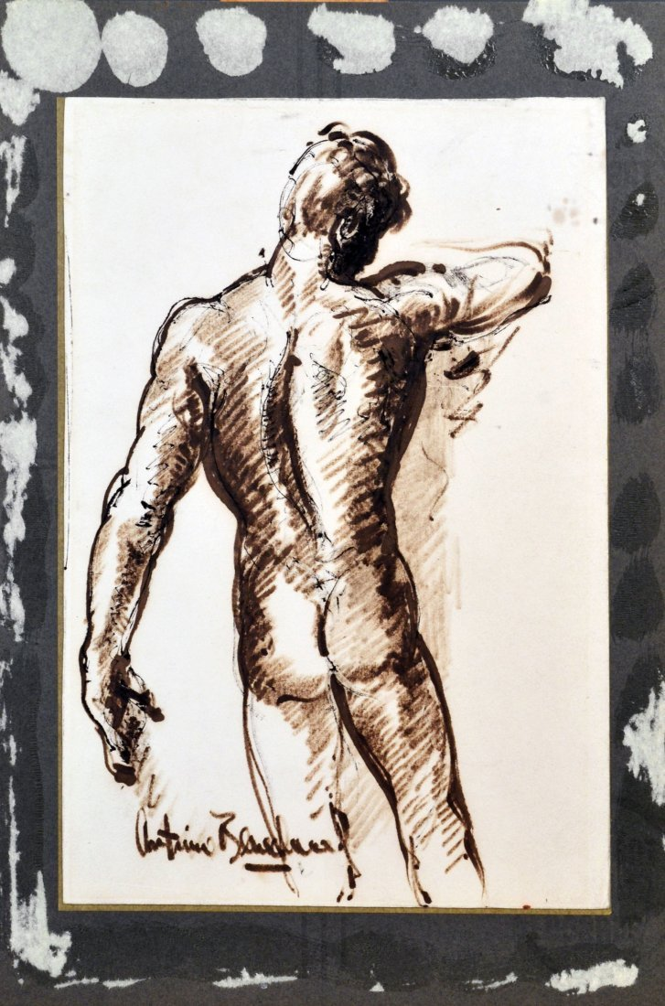 4: Male Nude, Facing Backwards