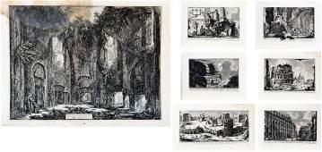 173 Seven Etchings by Giovanni Battista Piranesi