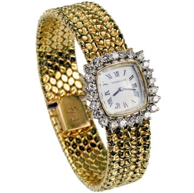 330: Tiffany & Co. Gold and Diamond Watch