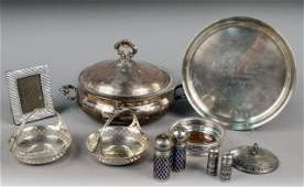216 Group of Sterling Silver  Silver Plated Articles