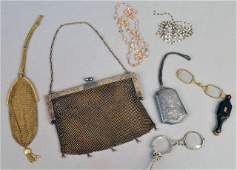 273: Vintage Mesh and Silk Purses