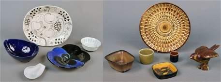 329 Miscellaneous Group of Scandinavian Art Pottery