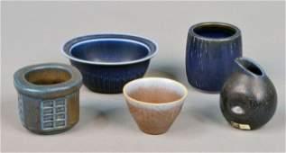 339 Miscellaneous Group of Scandinavian Art Pottery
