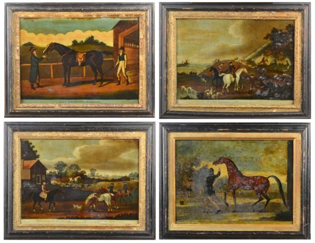 4: Set of Four English Reverse Paintings