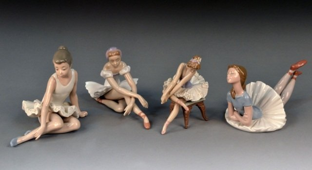 371: Group of Four Lladro Porcelain Figures