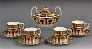Royal Crown Derby Porcelain Coffee Service