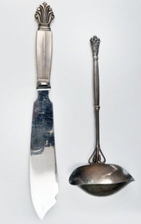 Two Georg Jensen Sterling Serving Pieces