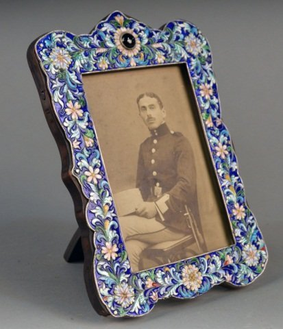 Russian Silver and Enamel Picture Frame