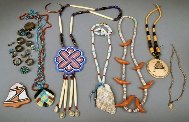 Miscellaneous Group of Native American Jewelry