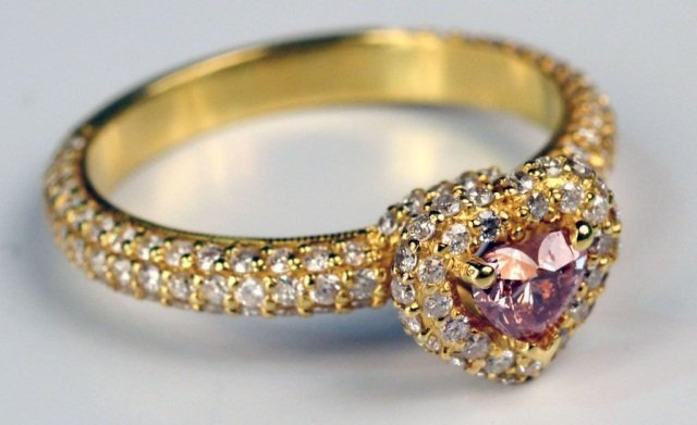 Gold and Pink Argyle Diamond Ring