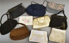 Group of Lady's Beaded Evening Handbags