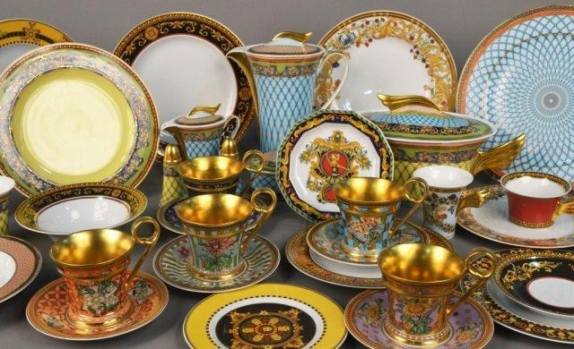 Assembled Versace Porcelain Dinner Service