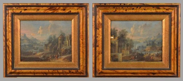 Pair of Paintings (Continental School, 19th C.)