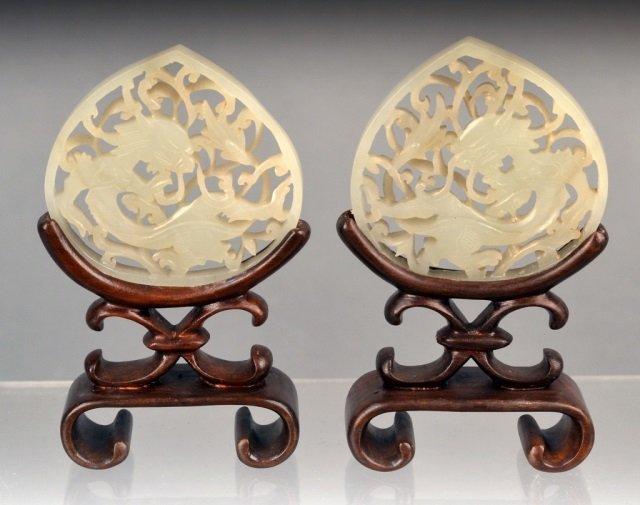Pair of Jade Pendants