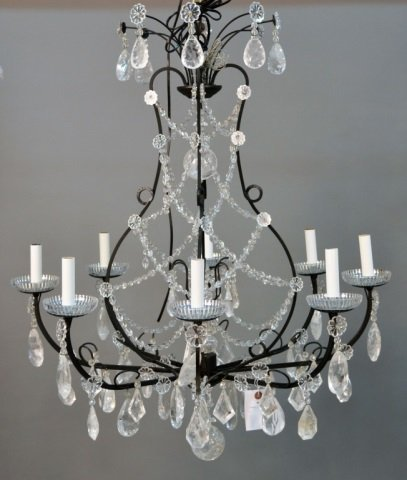 Louis XV Style Patinated Eight Arm Chandelier