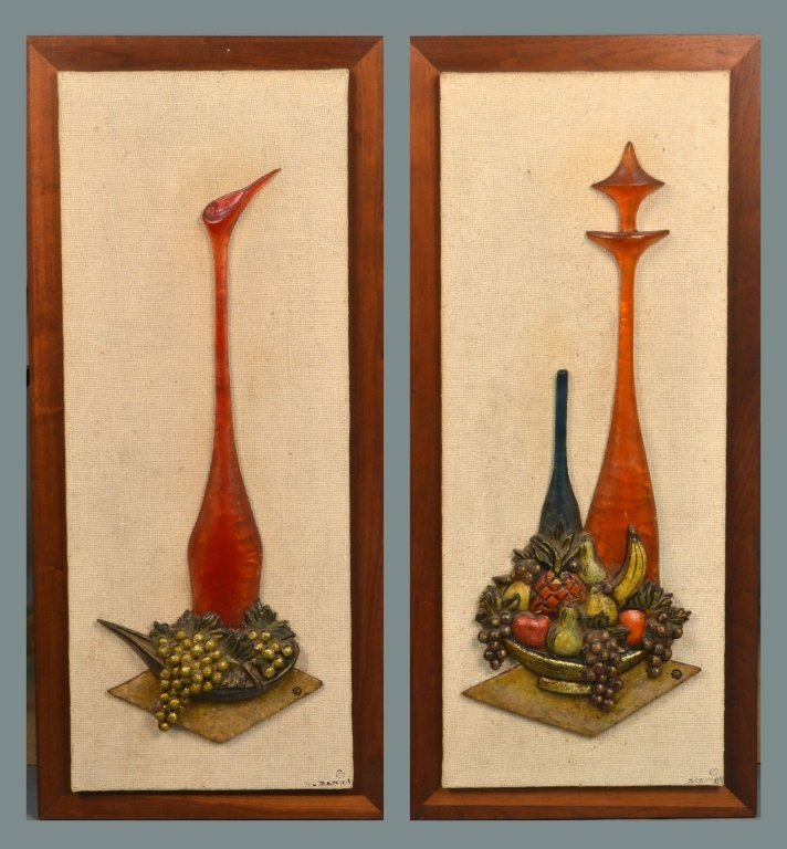 Two Z. Danjell Creations Hanging Wall Panels