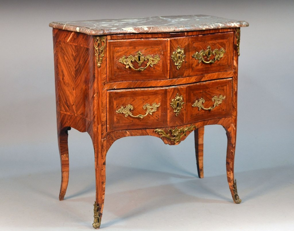 French Marble Top Kingwood Commode