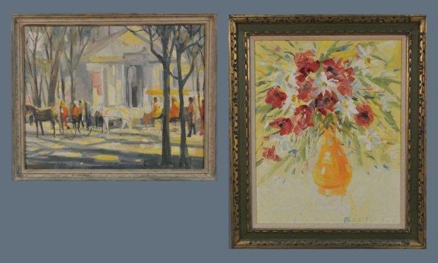 Two works by W. R. Barrel (American, 20th Century)