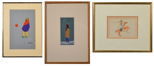 Three Native American Works of Art (20th Century)