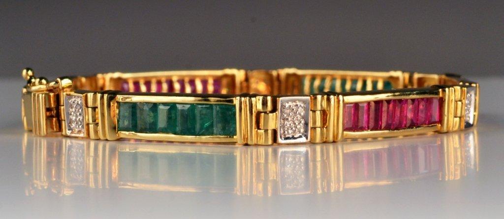 Gold and Gemstone Bracelet - 3