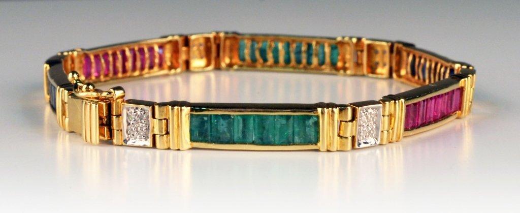 Gold and Gemstone Bracelet - 4