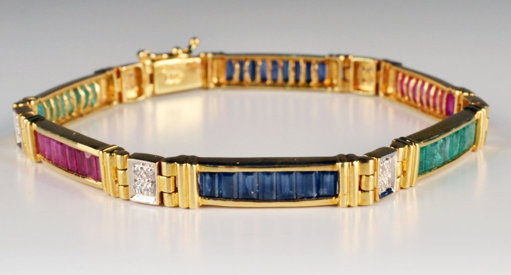 Gold and Gemstone Bracelet - 5