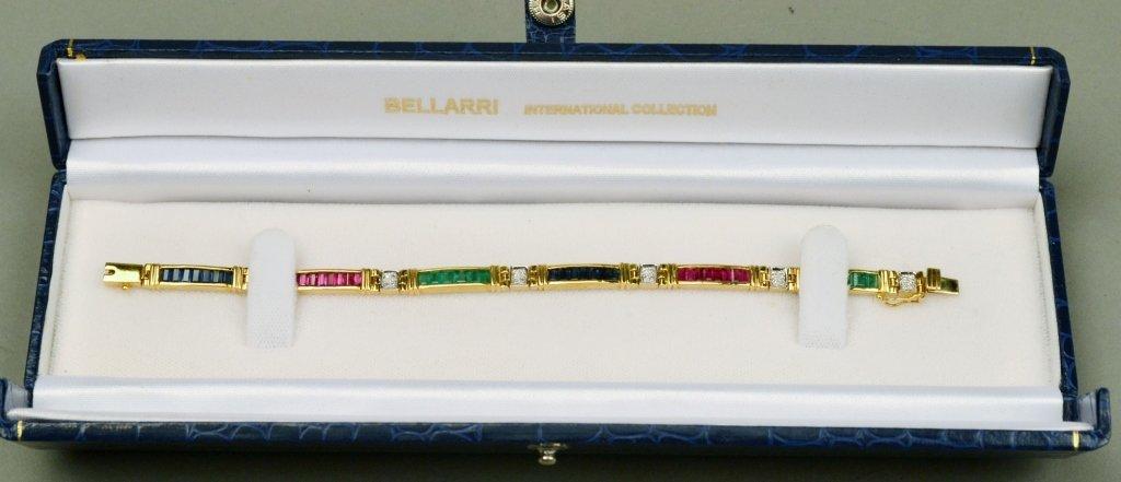 Gold and Gemstone Bracelet - 6